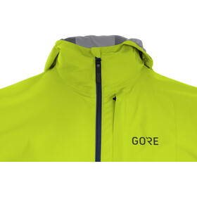 GORE WEAR R7 Partial Gore-Tex Infinium Løbejakke Herrer, deep water blue/citrus green